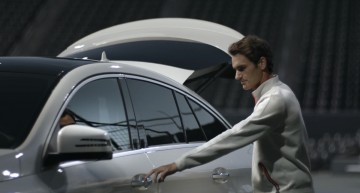 Roger Federer falls in love with the Mercedes-AMG GLE 63 Coupe