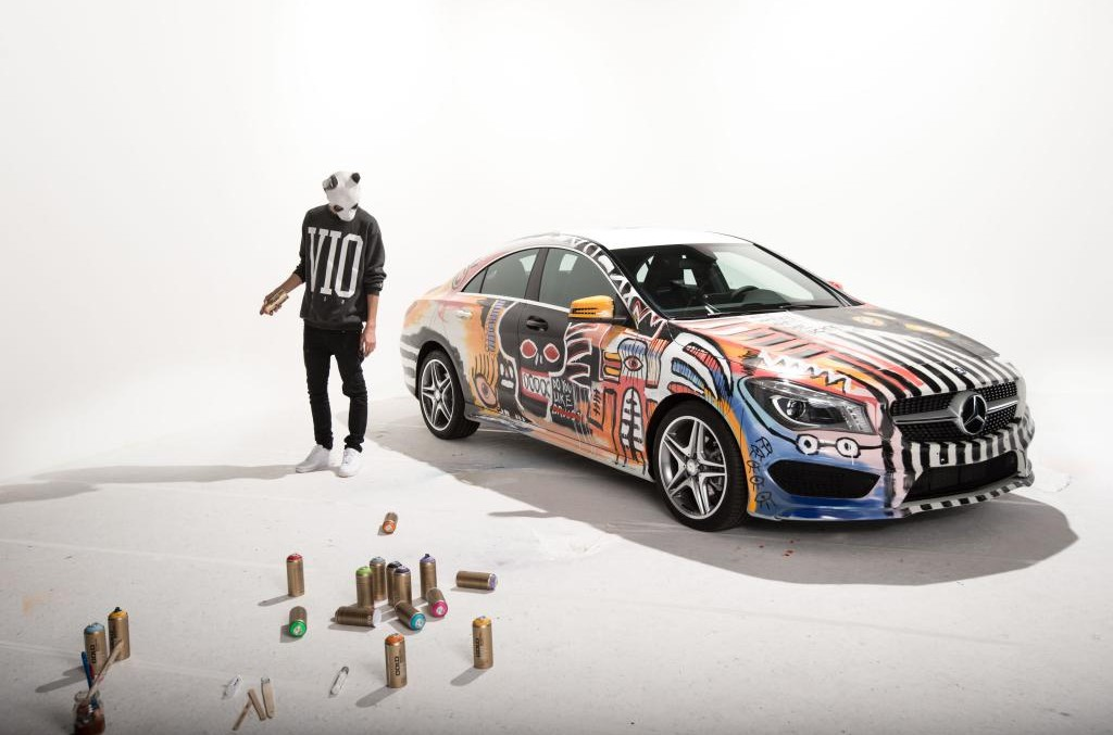 Mercedes-Benz CLA covered in graffiti – The car of the next generation