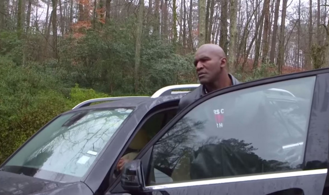Don't mess with Holyfield and his Benz