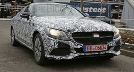 Mercedes-Benz C-Class Coupe plays the striptease game – latest spy pics