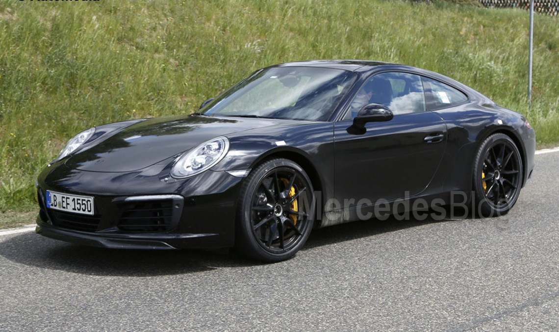 Mercedes-AMG GT rival Porsche 911 facelift undisguised