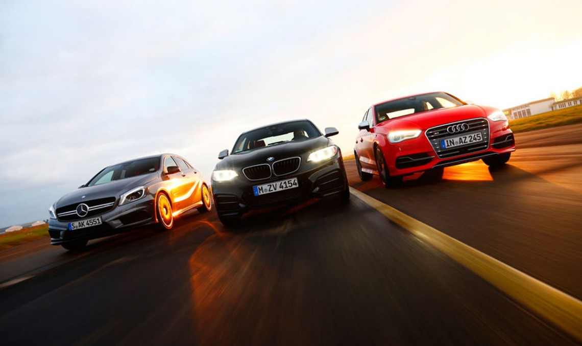 BMW M235i, Audi S3 Sedan and the A 45 AMG 4MATIC – compact runners