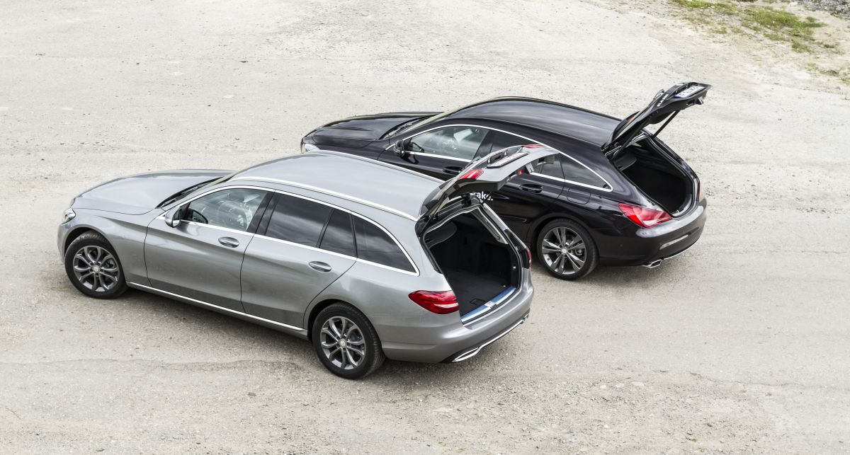 CLA shooting brake vs C Class break 1 (2)