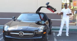 The Nutty Professor Eddie Murphy drives a naughty car: the SLS AMG