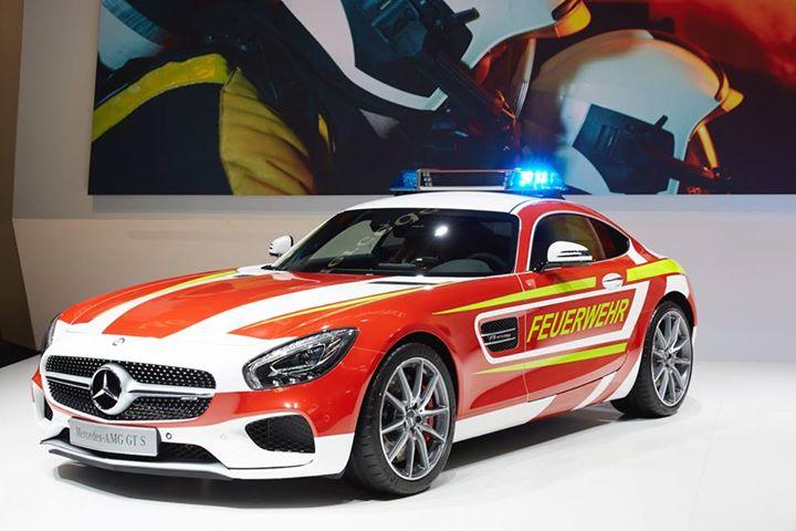 Mercedes-AMG GT S Fire Department Edition. Not quite a fire truck!