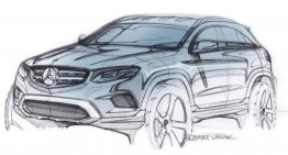 Official sketch teasing the Mercedes-Benz GLC that will be revealed on Wednesday
