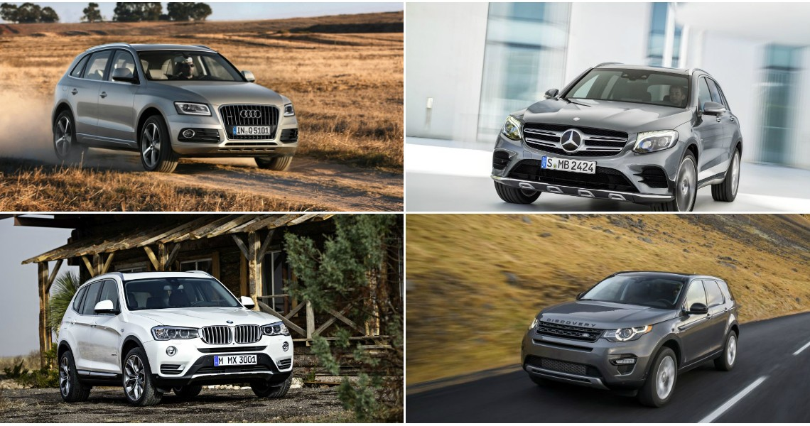 Mercedes GLC vs Audi Q5 BMW X3 and LR Discovery Sport first