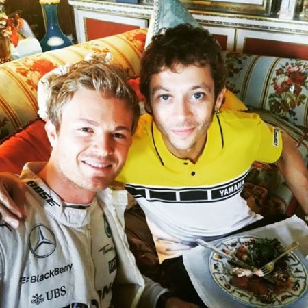 Nico Rosberg and Valentino Rossi