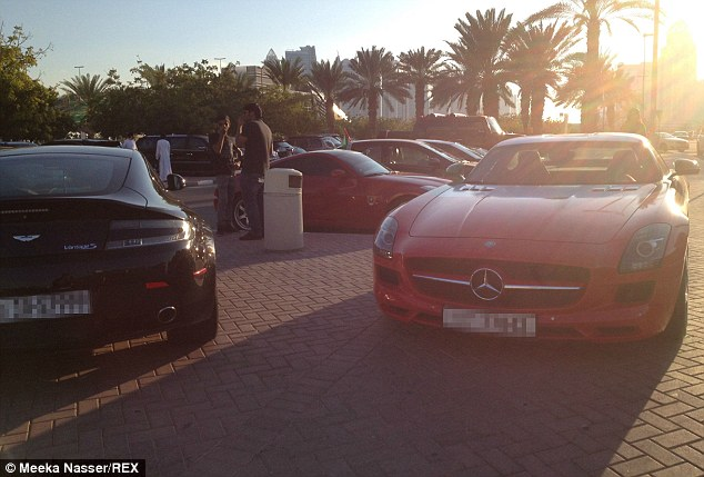Not your average ride to school – Dubai University parking lot full of supercars!
