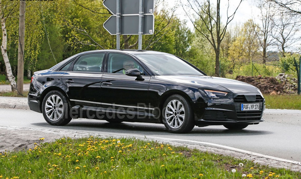 Audi A4 spied virtually undisguised. C-Class doesn't even sweat
