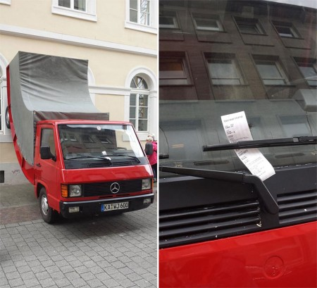 Fine ticket for Mercedes-Benz truck
