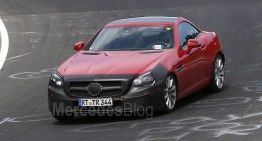 Facelifted Mercedes-Benz SLC strips on the Nurburgring