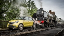Smart ForRail at the Bluebell Railway, Sussex, 22 June 2015Mercedes-Benz Smart Car. TrainPhoto: James Lipman / jameslipman.com