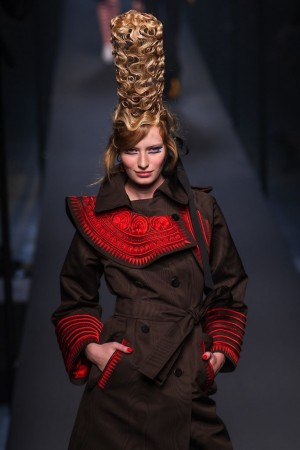 Bizarre Fashion Gaultier hairdo