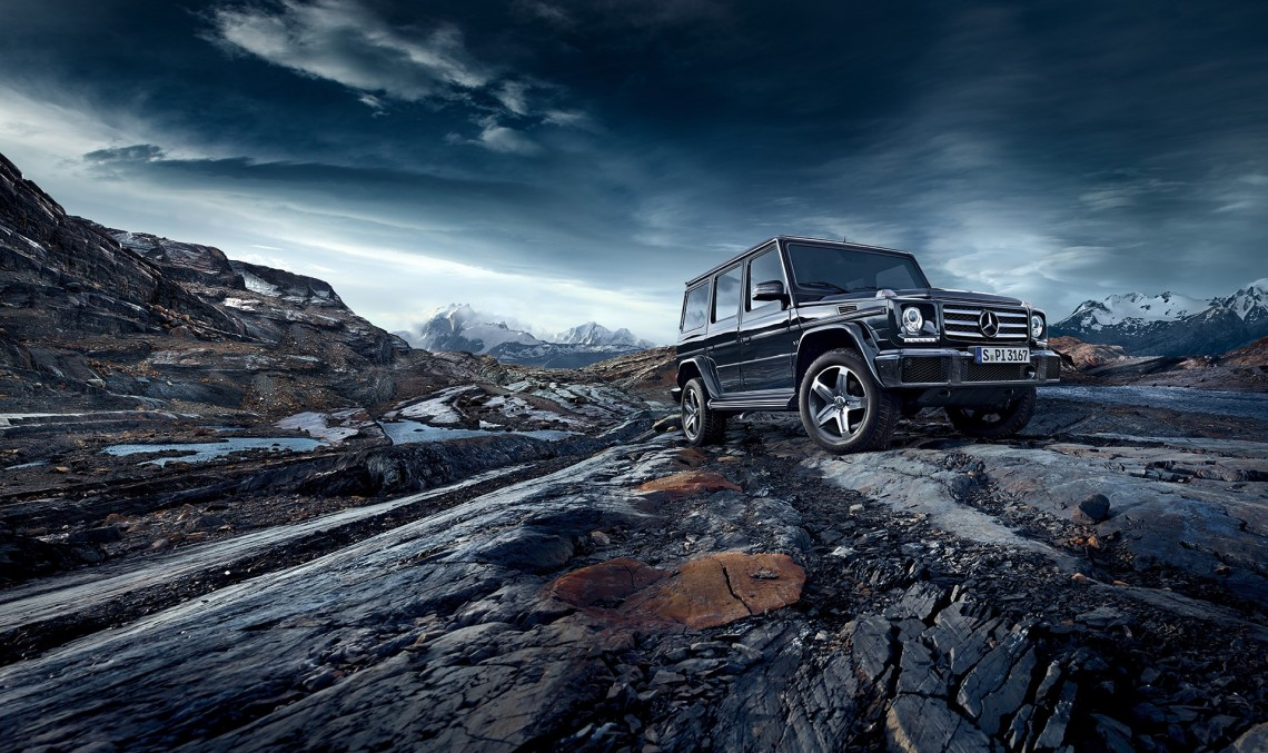 The G-Class fighting the wilderness