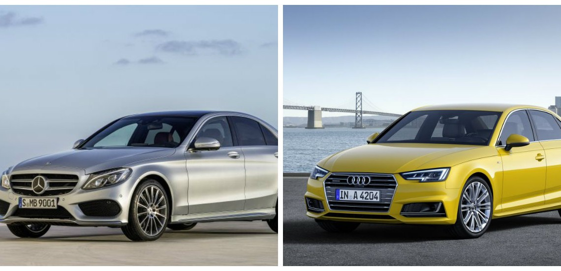 The new Audi A4 vs Mercedes C-Class