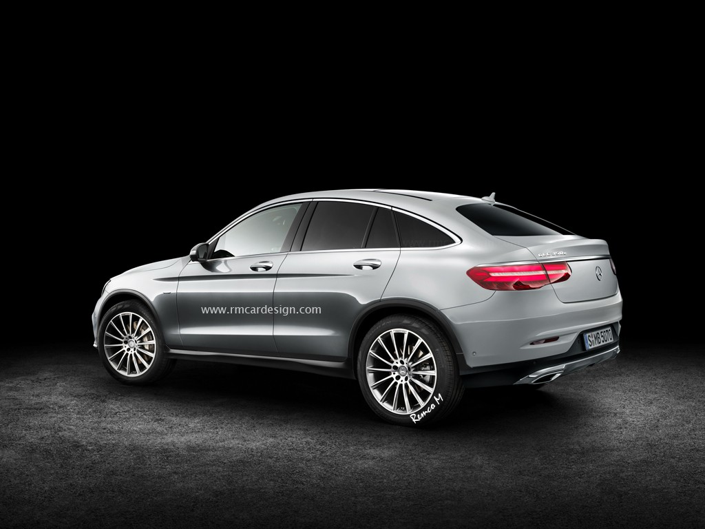 production mercedes benz glc coupe is here new renders mercedesblog