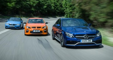 Mercedes-AMG C 63 crushes the BMW M3 and VXR8 GTS