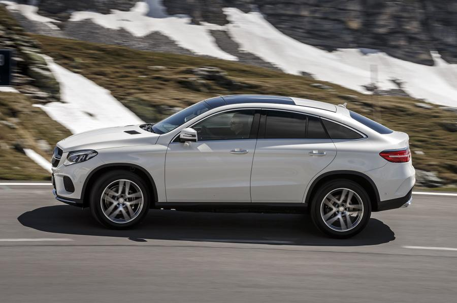 First Test Mercedes Benz Gle Coupe Driven In Austria
