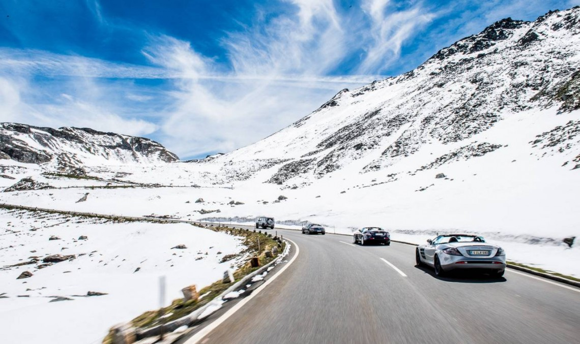 Sky-high drive in the McLaren-Mercedes SLR