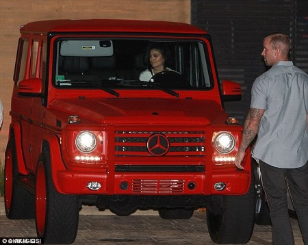G-Class red Kylie Jenner