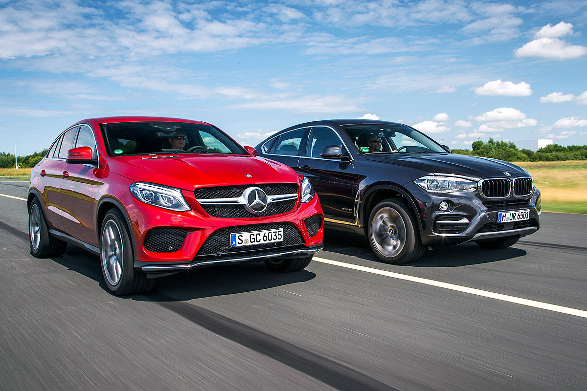 First Comparison Mercedes Gle Coupe Vs Bmw X6 By Auto Bild