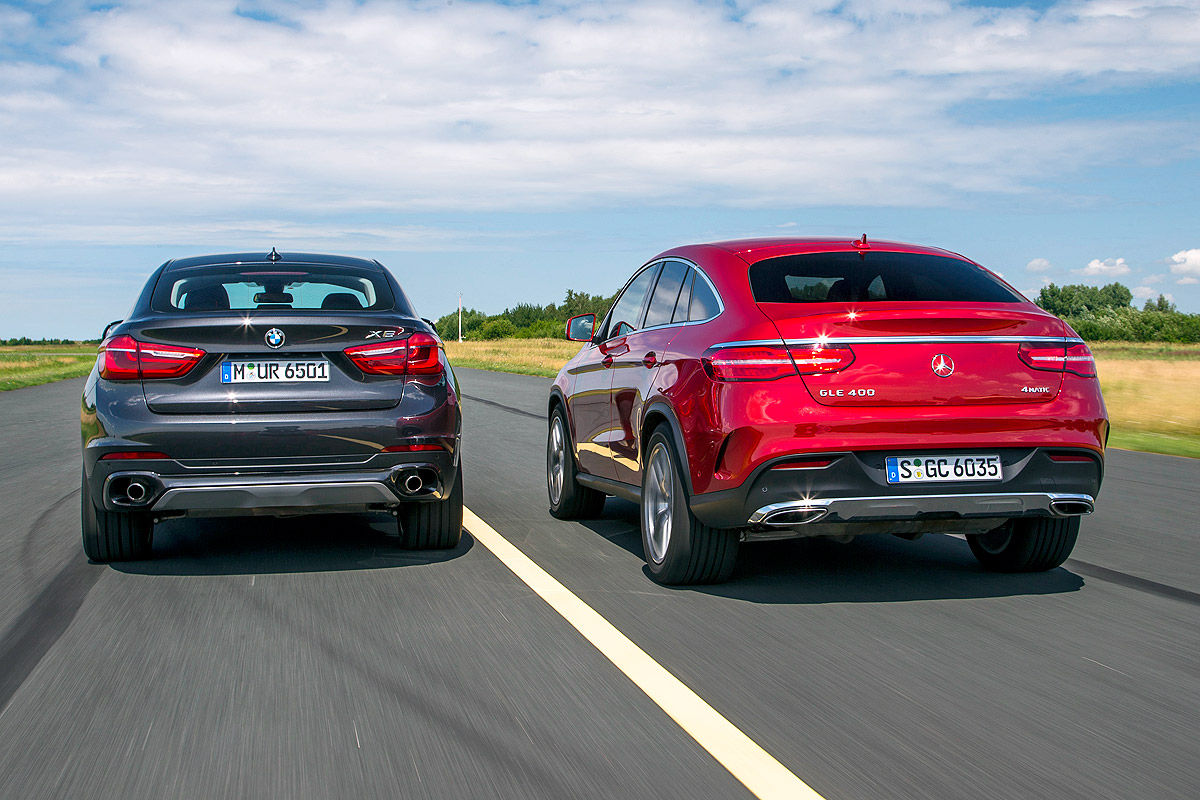 first comparison mercedes gle coupe vs bmw x6 by auto bild mercedesblog. Black Bedroom Furniture Sets. Home Design Ideas
