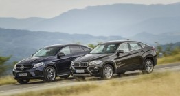 Exclusive: first comparative review of the Mercedes GLE 350 d Coupe vs the BMW X6 40d