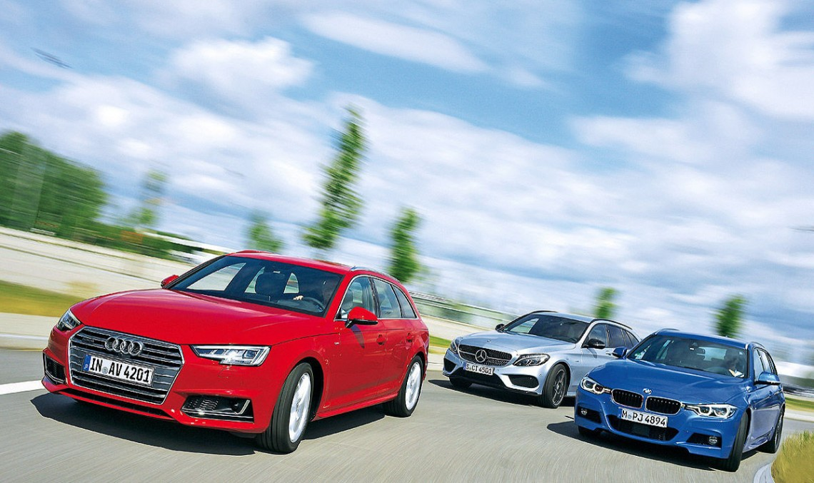 New Audi A4 Avant meets its rivals – C-Class T-Modell & 3-Series Touring