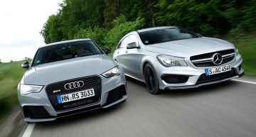 Audi RS3 vs. CLA 45 AMG – sportback vs. shooting brake