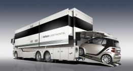 Mercedes based Ketterer Continental RV, big enough to carry your smart