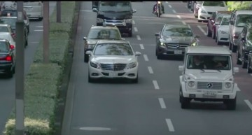 Taking the Maybach for a spin – Hamilton rides his limo in Tokyo