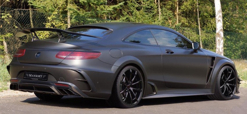 Mercedes S63 Coupe Black Edition Mansory
