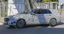 This is the 2016 E-Class Estate. T-Modell revealed in first spy pics