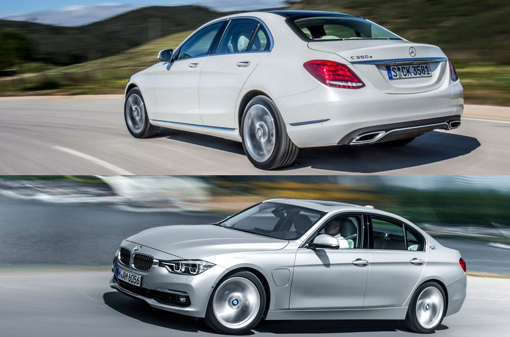 first comparison bmw 330e vs mercedes c 350 e plug in hybrid mercedesblog. Black Bedroom Furniture Sets. Home Design Ideas