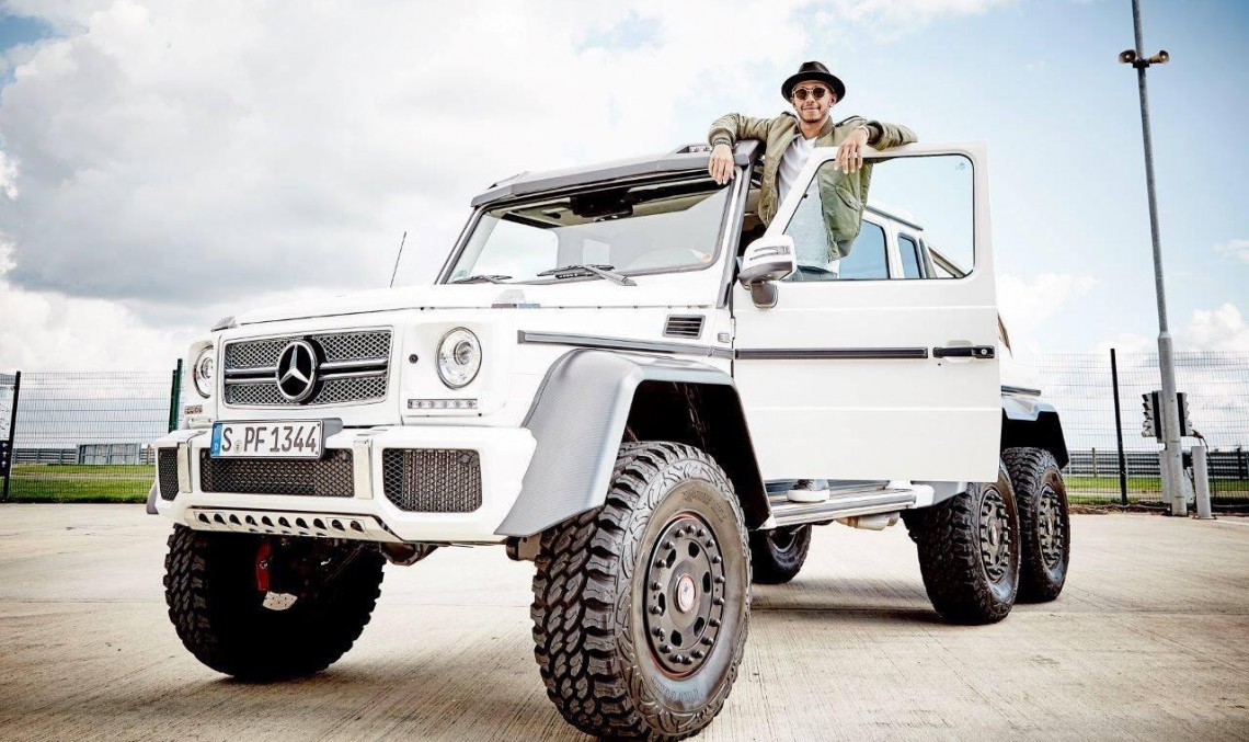 Lewis Hamilton shows off his Mercedes-Benz G 63 AMG 6×6