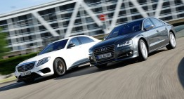 Clash of the V8 titans. Mercedes-AMG S 63 4Matic vs Audi S8