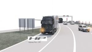 Mercedes-Benz Actros mit Highway Pilot auf einer