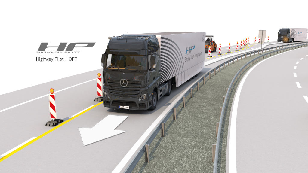 Mercedes-Benz Actros with Highway Pilot – First time on the highway