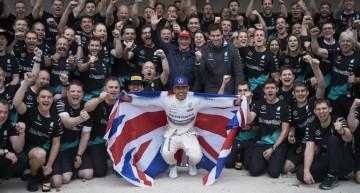 Lewis Hamilton of Mercedes-AMG PETRONAS is the world champion