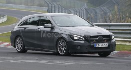 New clothes for Shooting Brake. Mercedes-Benz CLA facelift spy pics