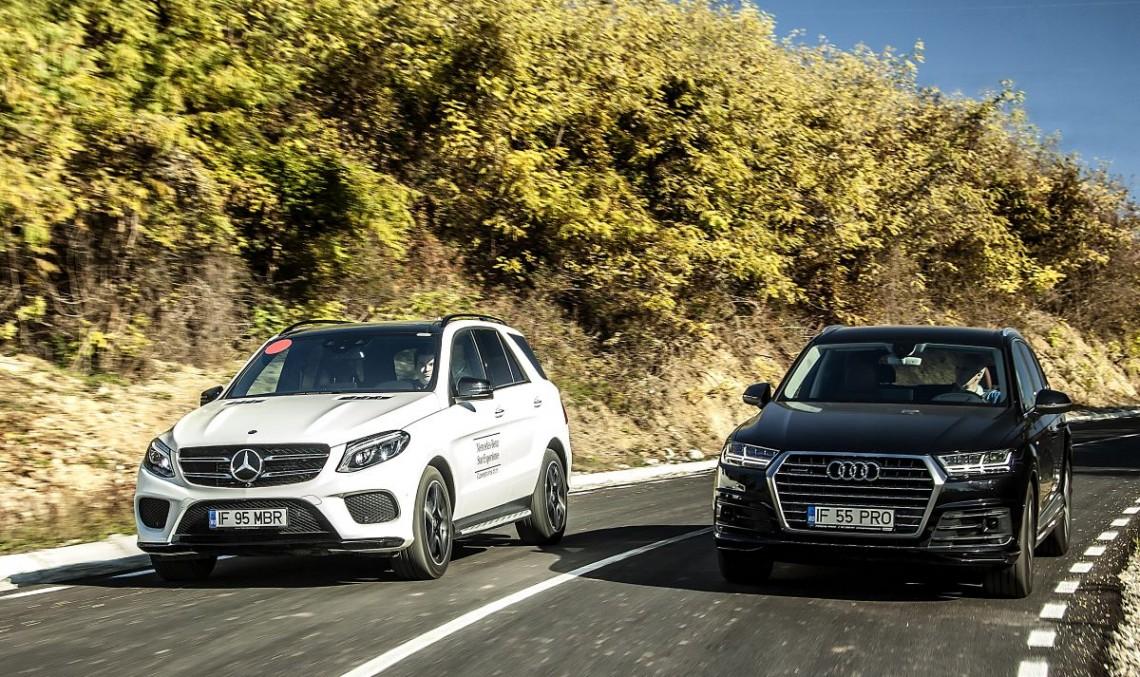 Goliath vs Goliath. 2017 Mercedes GLE 350 d versus the all-new Audi Q7 3.0 TDI - MercedesBlog