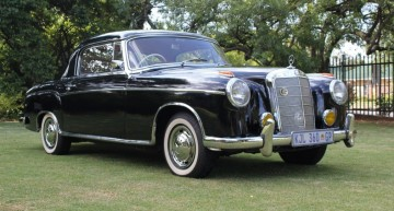"""The """"aristo-car"""": A 1958 Mercedes-Benz 220S Coupe sold in South Africa"""