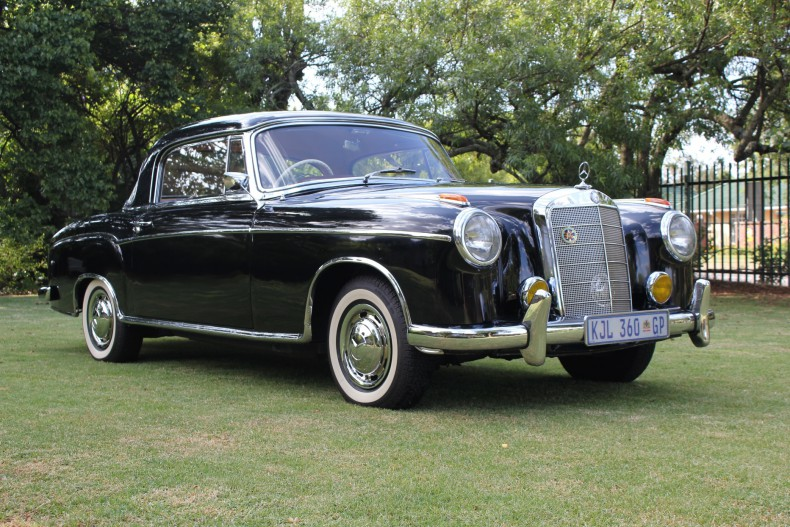 "The ""aristo-car"": A 1958 Mercedes-Benz 220S Coupe sold in South Africa"