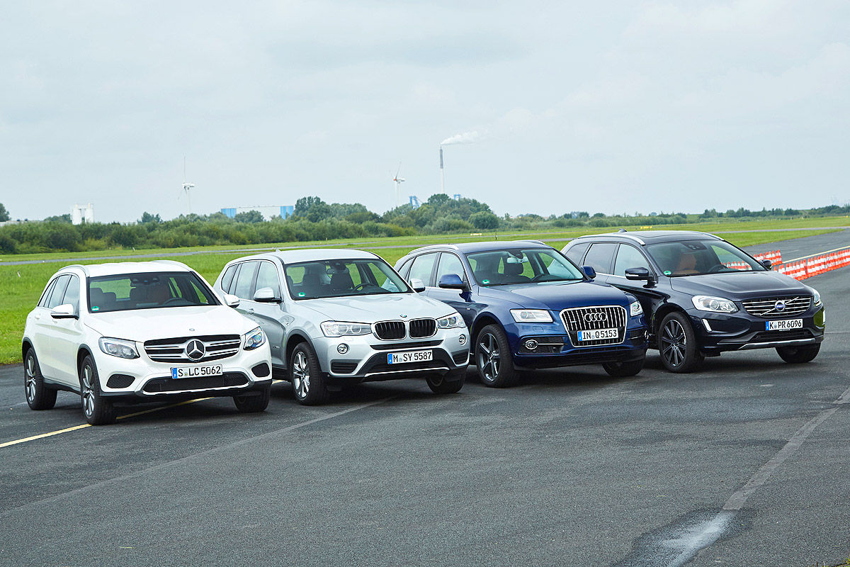 Comparison Test Mercedes Benz Glc Vs Audi Q5 Bmw X3 Volvo Xc60