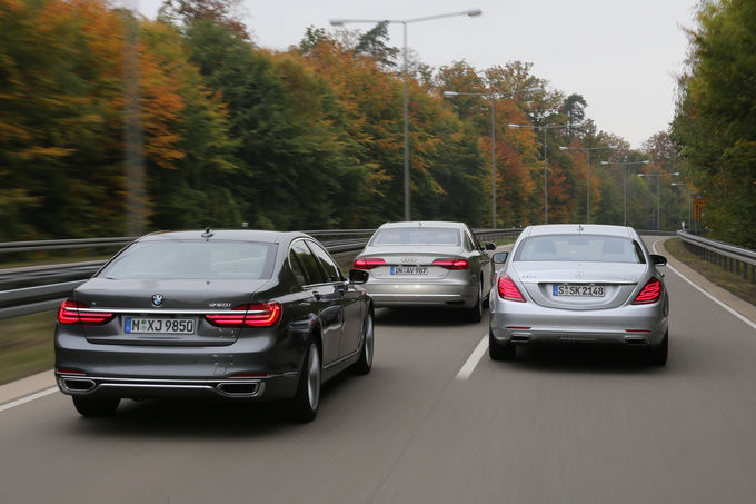 Mercedes S 500 vs BMW 750i, Audi A8 4.0 TFSI (8)
