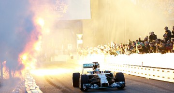 Mick Schumacher, Michael's son, drives in the Stars & Cars event