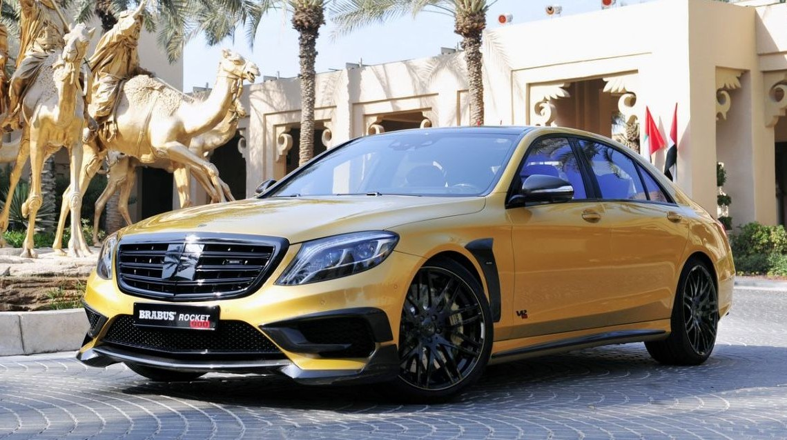 Brabus Rocket 900 Desert Gold Edition storms the Dubai Motor Show