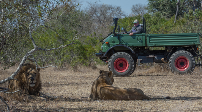 The Mercedes-Benz Unimog goes on a safari in Africa
