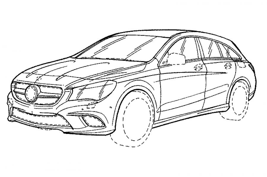 Patent photos reveal the 2017 Mercedes-Benz CLA Shooting Brake
